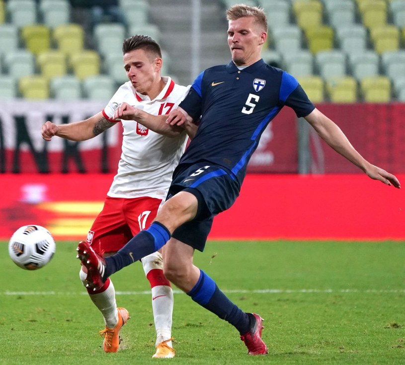 Damian Kądzior w meczu towarzyskim z Finlandią /AFP