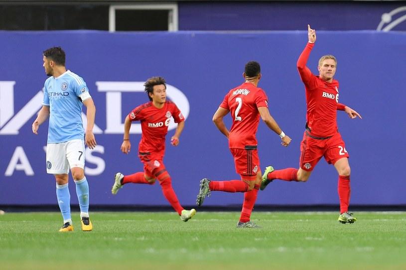 Damien Perquis celebruje trafienie podczas spotkania MLS /AFP