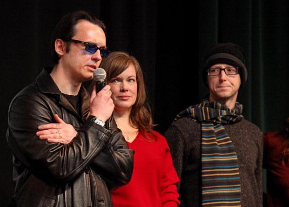Damien z żoną Lorri i Jasonem Baldwinem /Barry Brecheisen /Getty Images