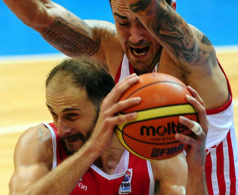 Damir Markota (z tyłu) podczas meczu Chorwacji z Gruzją /AFP