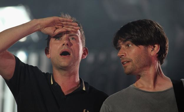 Damon Albarn i Alex James - fot. Matt Cardy /Getty Images/Flash Press Media