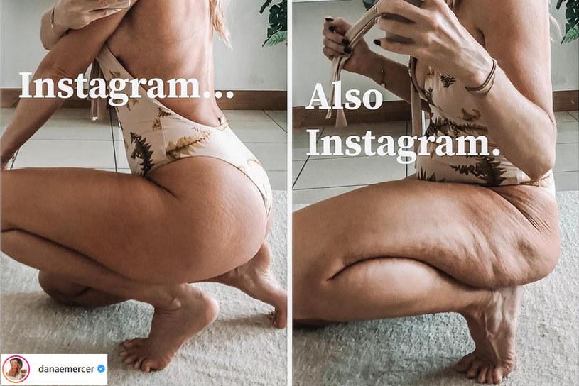 Danae Mercer walczy z przekłamanym obrazem kobiecego ciała w mediach społecznościowych /@danaemercer /Instagram