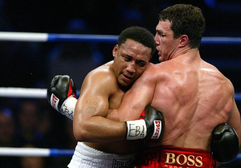 Danell Nicholson podczas ostatniej zawodowej walki - z Władimirem Kliczką w 2003 roku /Getty Images