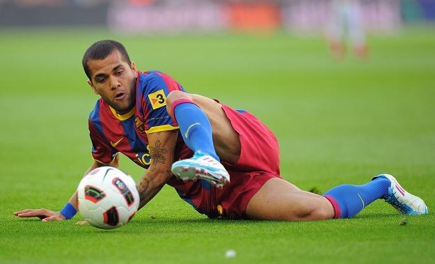 Dani Alves rozegrał dobry mecz w barwach FC Barcelona /AFP