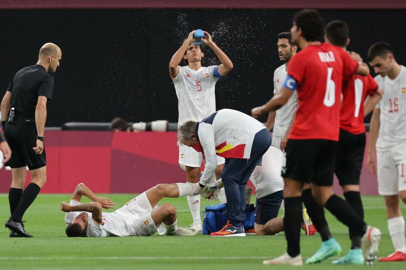 Dani Ceballos doznał groźnie wyglądającego urazu /ASANO IKKO/AFP/East News /East News