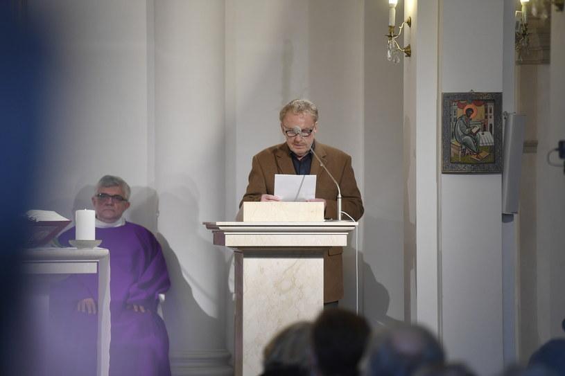 Danial Olbrychski na mszy św. za Wojciecha Pszoniaka /AKPA