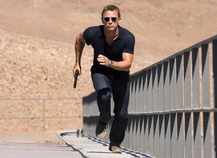 "Daniel Craig jako James Bond na planie filmu ""Quantum of Solace"" /AFP"