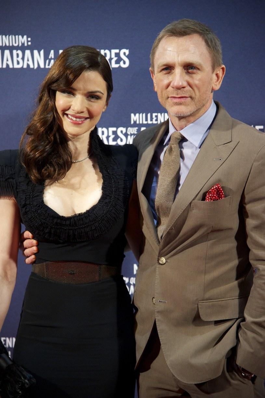 Daniel Craig z żoną Rachel Weisz /Getty Images