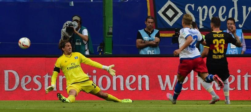 Daniel Ginczek strzela pierwszego gola /AFP