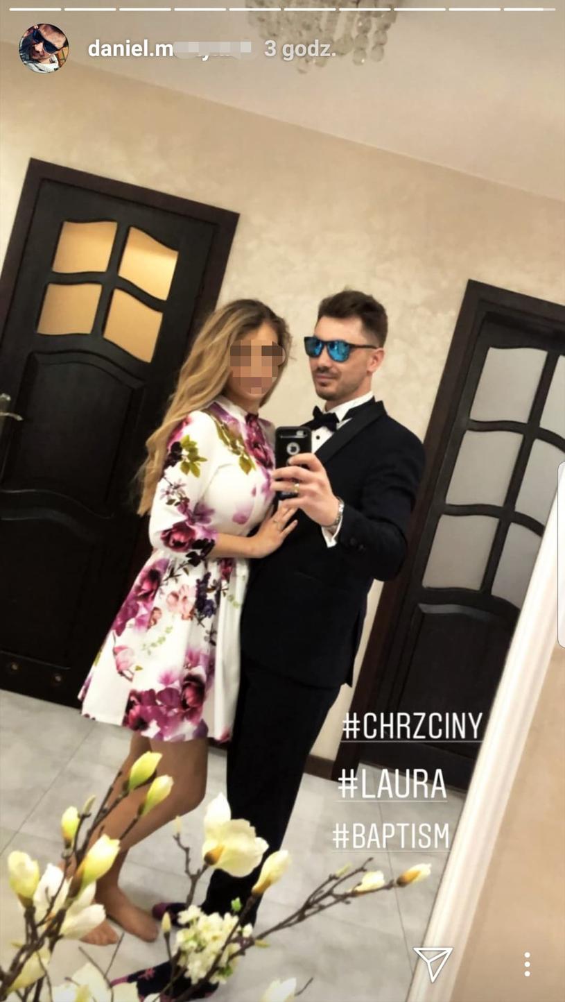 Daniel i Ewelina w dniu chrztu świętego Laury /Instagram
