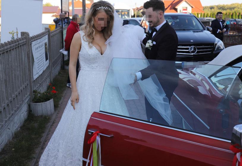 Daniel i Ewelina w dniu ślubu /Anatol Chomicz /East News
