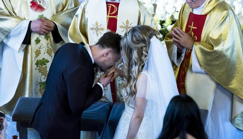 Daniel i Ewelina w dniu ślubu /Agencja FORUM