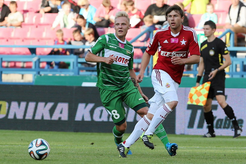 Daniel Łukasik (z lewej) /Mateusz Skwarczek /
