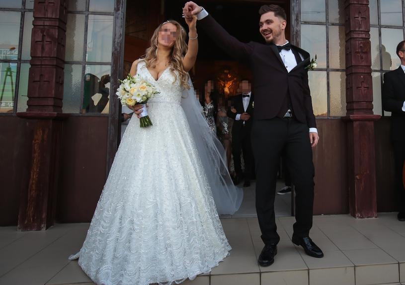 Daniel Martyniuk i jego żona Ewelina /Piotr Grzybowski /East News