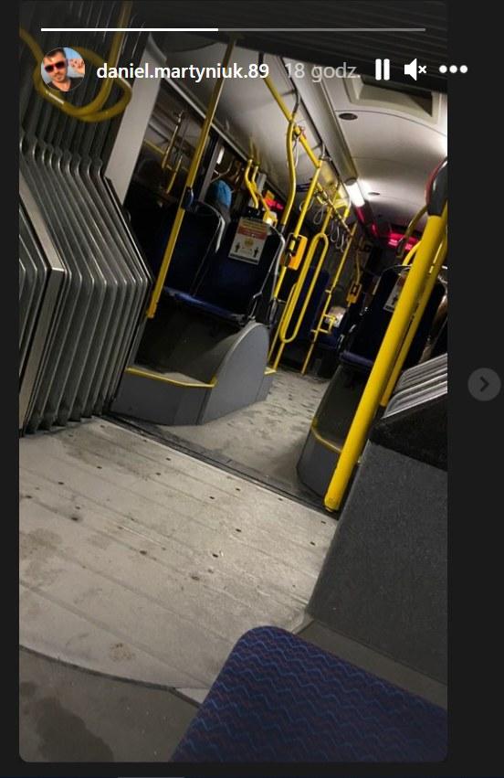 Daniel Martyniuk w autobusie /Instagram/daniel.martyniuk.89