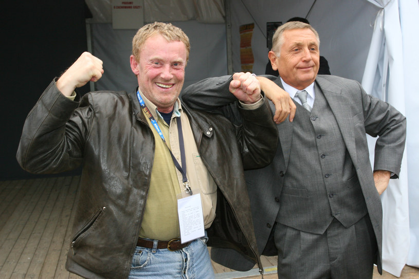 Daniel Olbrychski i Jiri Menzel na Festiwalu Filmu i Sztuki Dwa Brzegi w Kazimierzu Dolnym (2007) /Marcin Dlawichowski /Agencja FORUM