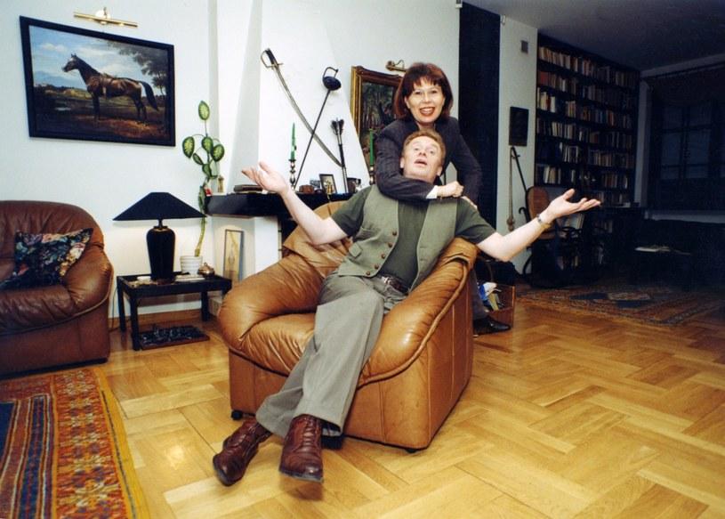Daniel Olbrychski i Zuzanna Łapicka, 1996 rok /Zenon Zyburtowicz /East News