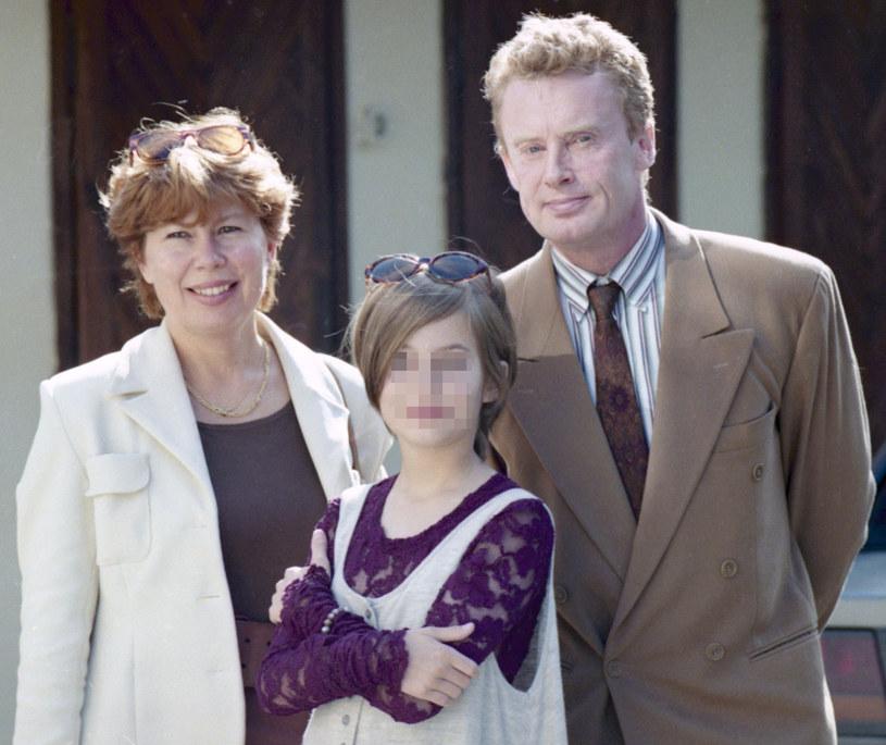 Daniel Olbrychski i Zuzanna Łapicka-Olbrychska z córką Weroniką, 1994 r. /Zenon Zyburtowicz /East News