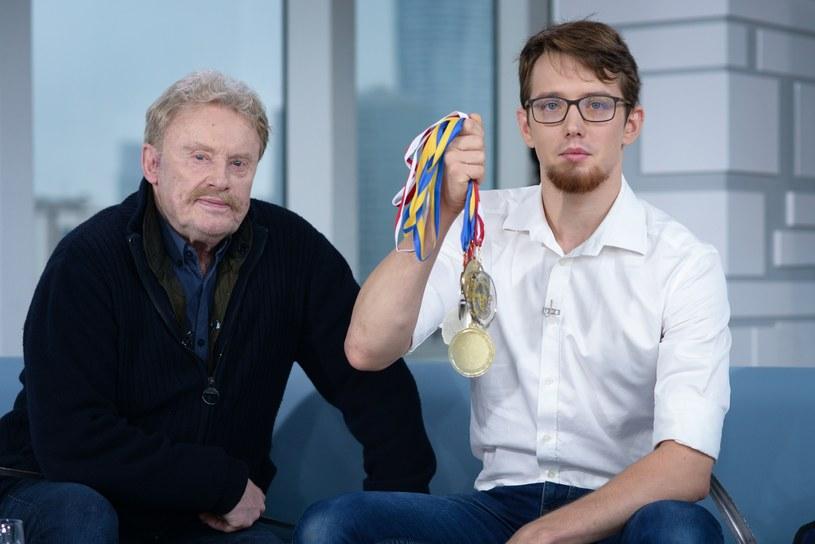Daniel Olbrychski z wnukiem Antonim /Wojciech Olszanka /East News