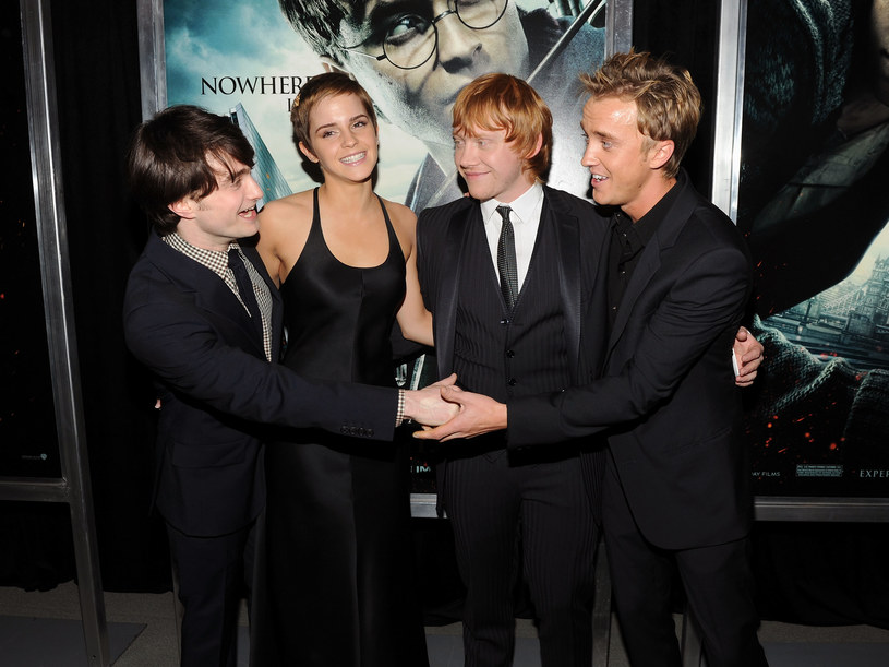 Daniel Radcliffe, Emma Watson, Rupert Grint, Tom Felton /Stephen Lovekin /Getty Images