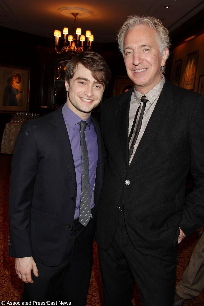 Daniel Radcliffe i Alan Rickman w 2011 roku /Dave Allocca / Associated Press /East News