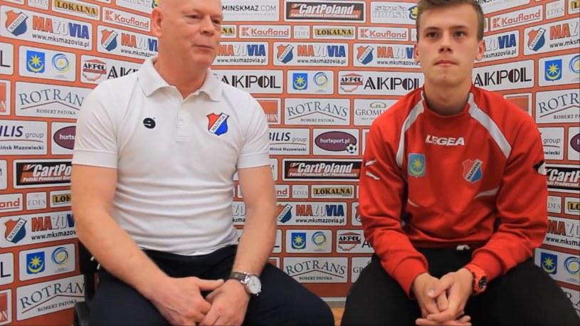 Daniel Smuga (z prawej), jeszcze w barwach Mazovii Mińsk Mazowiecki /interia /