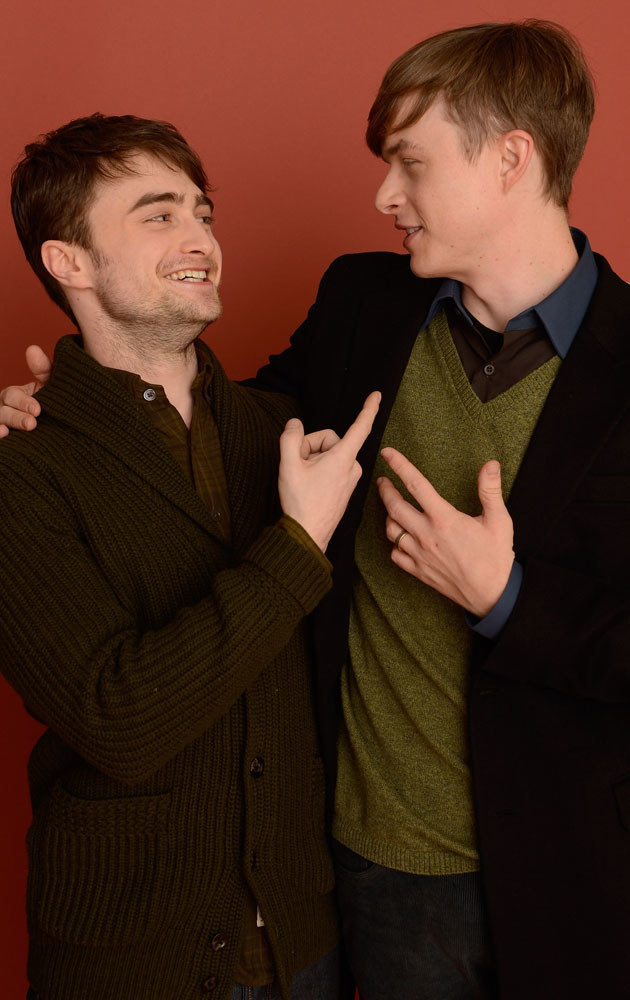 "Daniel z Danem DeHaanem, który partneruje mu w filmie ""Kill my Darlings"" /Larry Busacca /Getty Images"