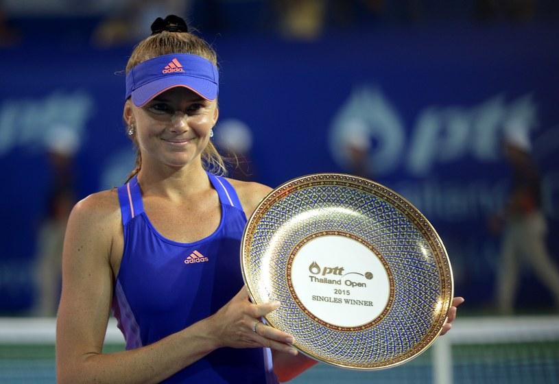 Daniela Hantuchova z nagrodą za zwycięstwo /AFP