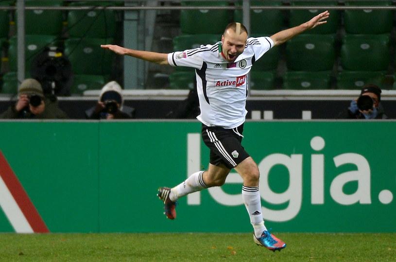 Danijel Ljuboja zdobył dwie bramki dla Legii Warszawa /Bartłomiej Zborowski /PAP