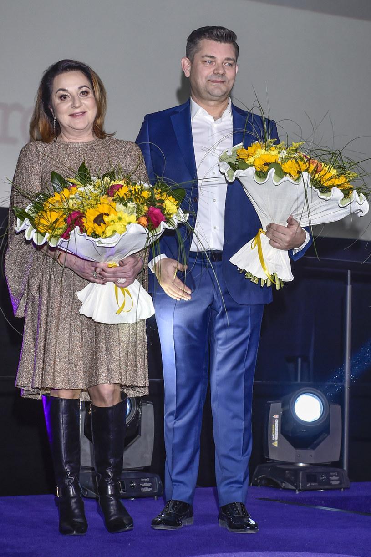 "Danusia i Zenek Martyniukowie na premierze filmu ""Zenek"" / Jacek Kurnikowski /AKPA"