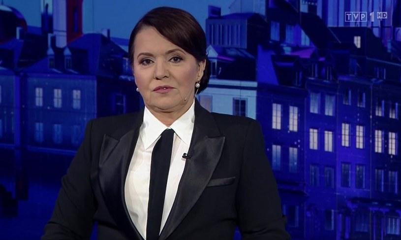 """Danuta Holecka w """"Wiadomościach"""" (Screen: vod.tvp.pl) /TVP /materiał zewnętrzny"""