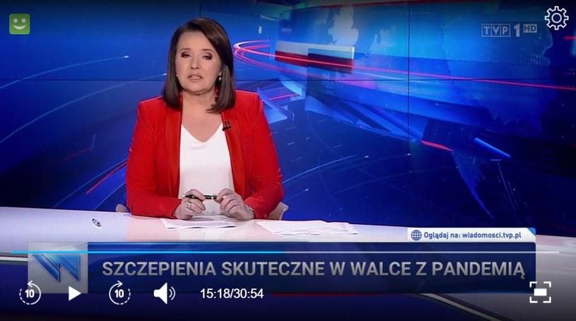 """Danuta Holecka wróciła do """"Wiadomości"""" w TVP /TVP /"""
