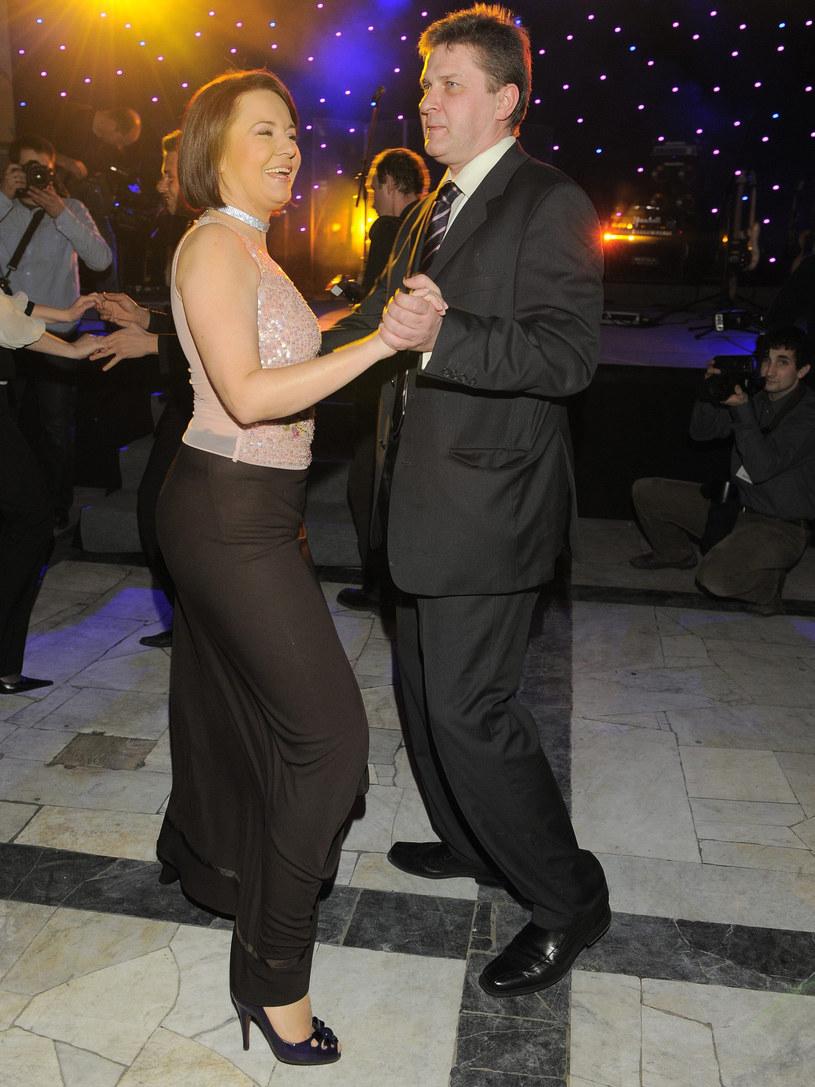 Danuta Holecka z mężem Krzyśkiem /East News