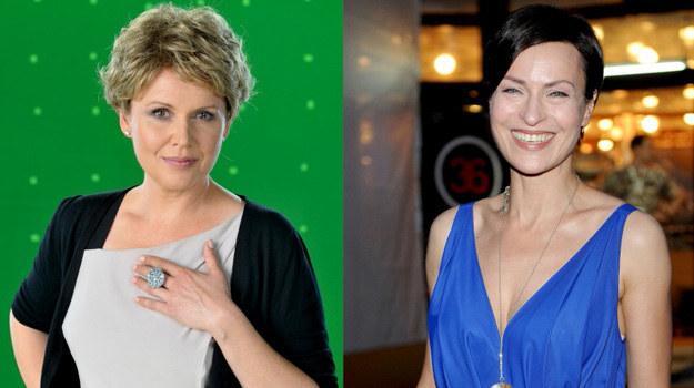Danuta Stenka i Małgorzata Pieńkowska: Pierwsza nie chciała wiązać się na kilkanaście lat z telenowelą, a druga skorzystała z nadarzającej się szansy na popularność /- /Agencja W. Impact