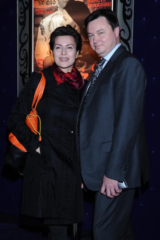 Danuta Stenka z mężem /Andras Szilagyi /MWMedia