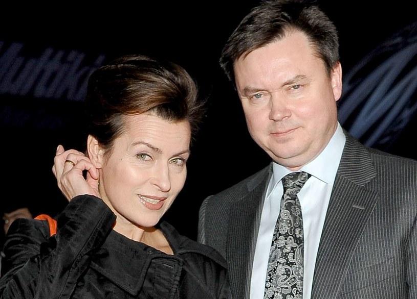 Danuta Stenka z mężem /Agencja W. Impact