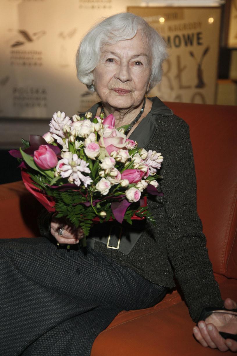 Danuta Szaflarska w 2010 roku - ogłoszenie nominacji do Polskich Nagród Filmowych Orły /AKPA
