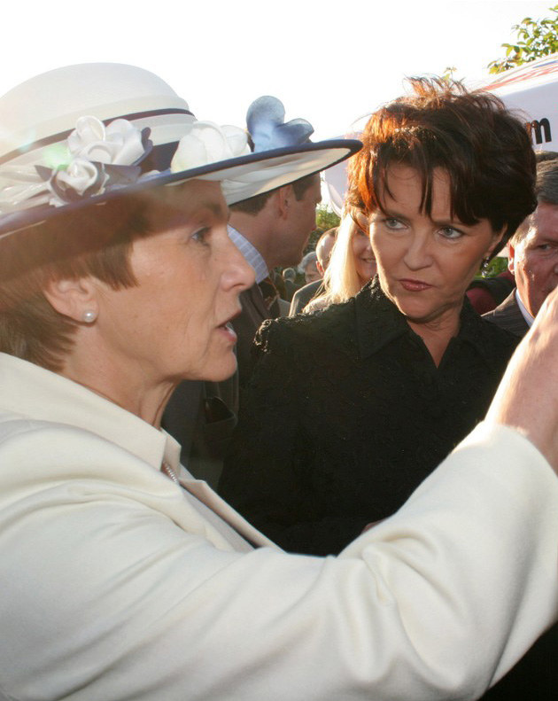 Danuta Wałęsa, Jolanta Kwaśniewska  /Reporter