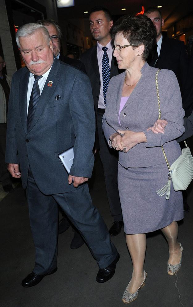 Danuta Wałęsa z mężem Lechem /MWMedia