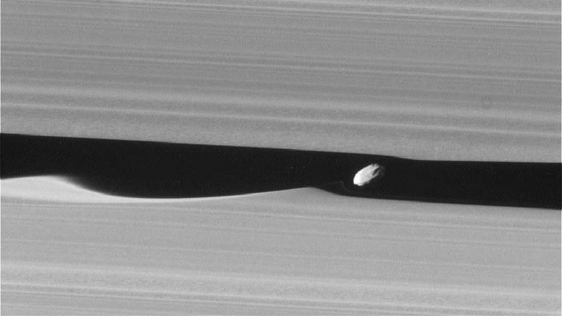 Daphnis na jednym z najdokładniejszych zdjęć /NASA