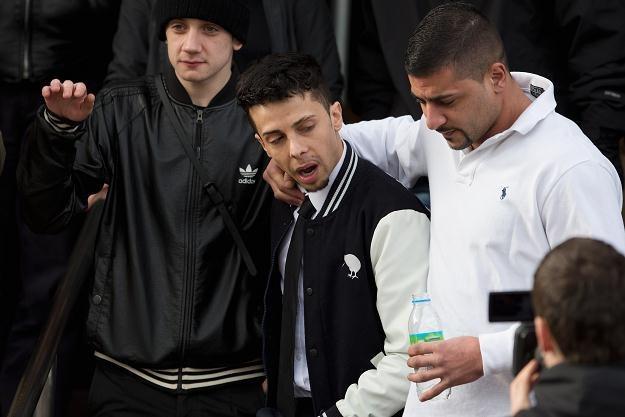 Dappy z wilgotnymi oczami opuszczał budynek sądu fot. Dan Kitwood /Getty Images/Flash Press Media