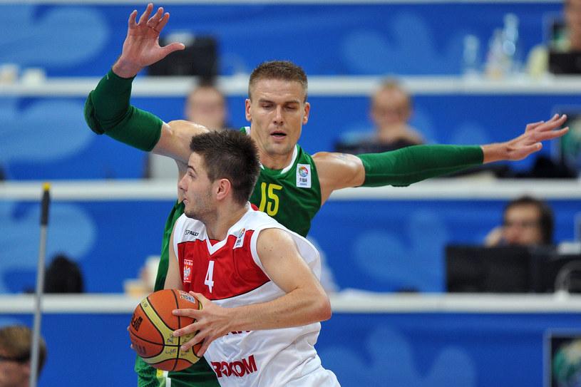 Dardan Berisha, reprezentant Polski w koszykówce /AFP