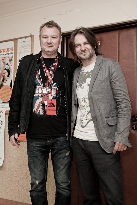 Darek Maciborek i Ray Wilson  /Mateusz Moskała /RMF FM