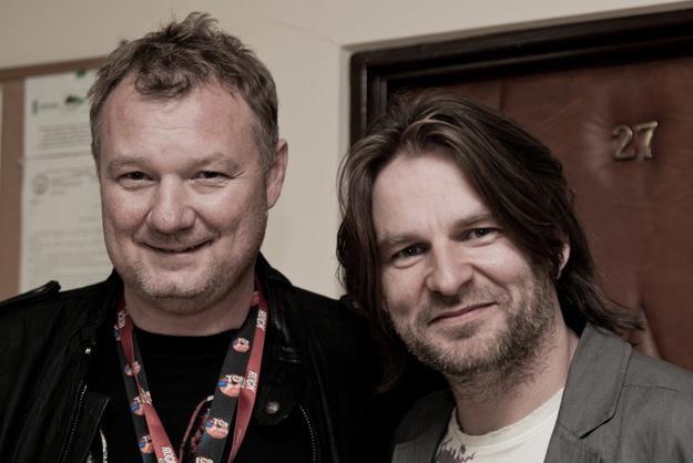 Darek Maciborek i Ray Wilson w pełnej gotowości - fot. Mateusz Moskała /RMF FM