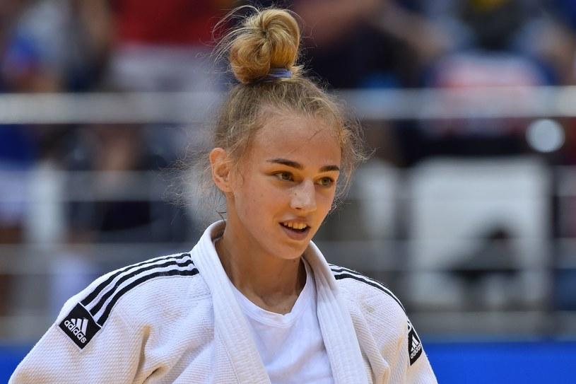 Daria Biłodid wygrał w kategorii do 48 kilogramów /AFP