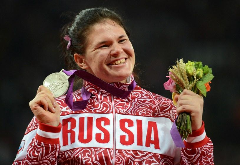 Daria Piszczalnikowa cieszyła się ze srebrnego medalu igrzysk w Londynie /AFP