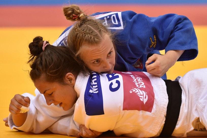 Daria Pogorzelec (niebieskie kimono) /AFP