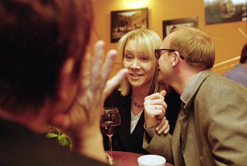 Daria Trafankowska i Artur Barciś, 2002 rok /Fot. Jan Zdzarski Jr /East News
