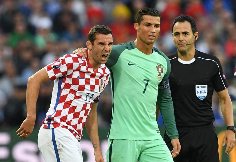 Darijo Srna i Cristiano Ronaldo na Euro 2016 /AFP
