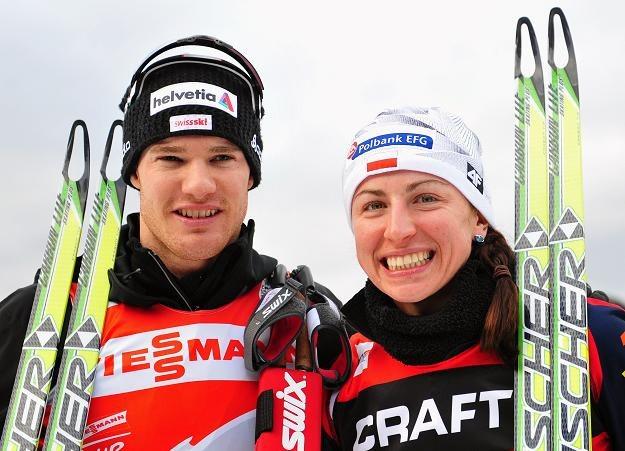 Dario Cologna i Justyna Kowalczyk /AFP